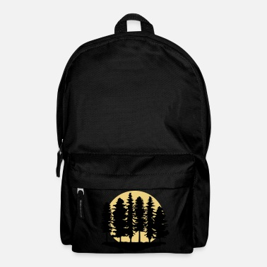 Climate Change Forest and Full Moon, Trees - Backpack