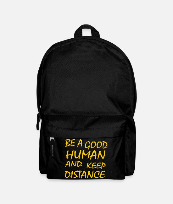 Pick Up Line Bags & Backpacks - Keep distance - Backpack black