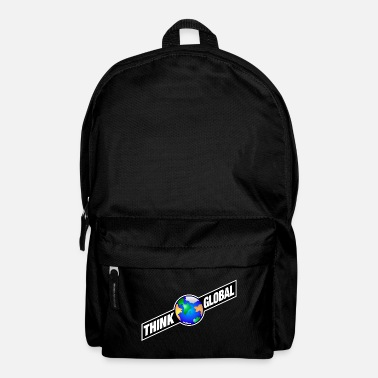 Global think global / global denken / global - Rucksack