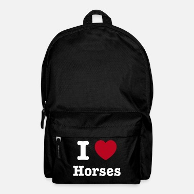 Change This design lets you change all colours - I love Horses - Rugzak