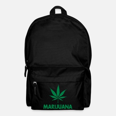 Cannabis marijuana with leaf - Mochila