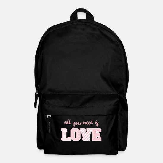 Love Bags & Backpacks - All You Need Is Love Pink - Backpack black