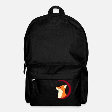 Fox in the red moon, gift - Backpack