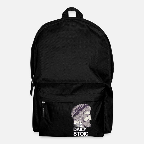 Philosopher Bags & Backpacks - Marcus Aurelius | The daily stoic - Backpack black