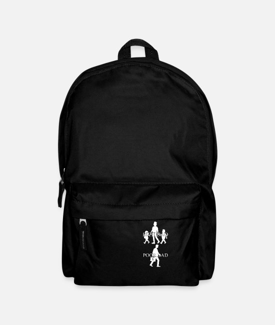 Money Bags & Backpacks - A rich dad and a poor dad, gift, idea - Backpack black