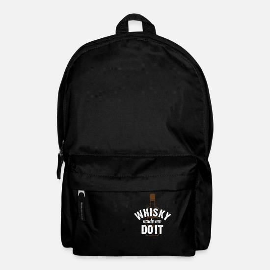 Alcohol Bags & Backpacks - Whiskey has led me to it - Backpack black