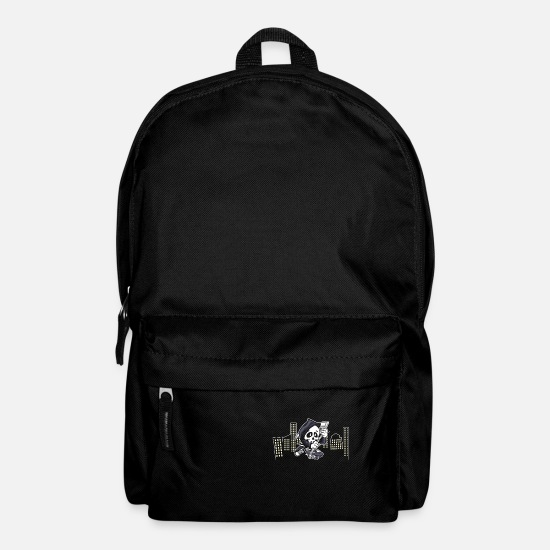 Skateboard Bags & Backpacks - reaper on skateboard - Backpack black