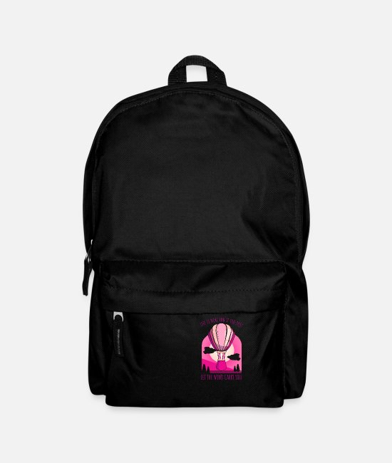 Easter Bags & Backpacks - Life is more fun if you just let the wind carry y. - Backpack black