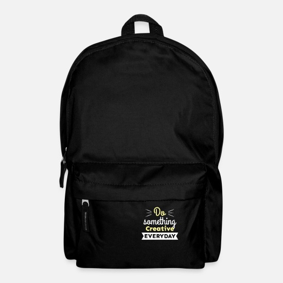 Artist Bags & Backpacks - Cool Do Something Creative Every Day Graphic gift - Backpack black