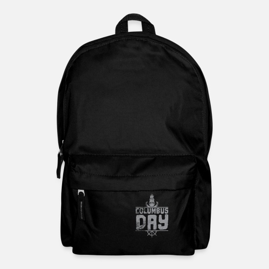 Gift Idea Bags & Backpacks - Columbus Day - Backpack black