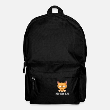 Grumpy In The Morning No Morning Man Grumpy Cat Morning Grouch - Backpack