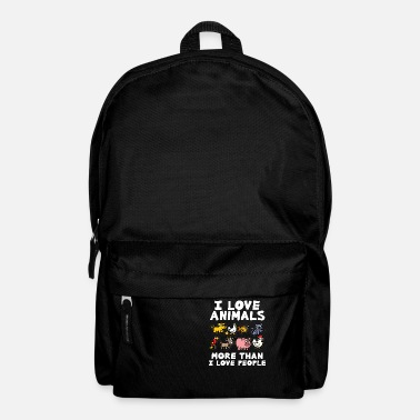 Animal Love I LOVE ANIMALS animal lover animal love animal protection - Backpack