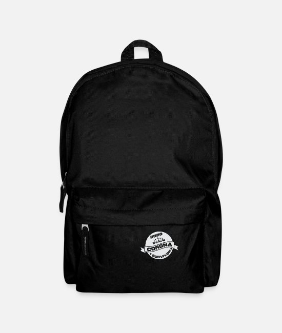 Infection Bags & Backpacks - Corona Survivor Grungy - Backpack black