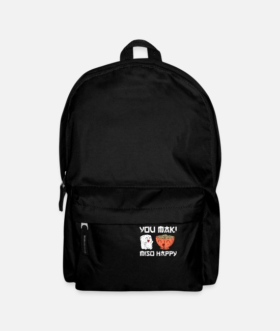 Birthday Bags & Backpacks - Sushi funny saying you maki miso happy gift - Backpack black