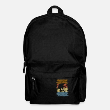 Skateboarder retro vintage skateboarding Sk8 - Backpack