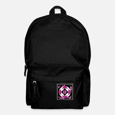 Painting Pink abstract art - Backpack
