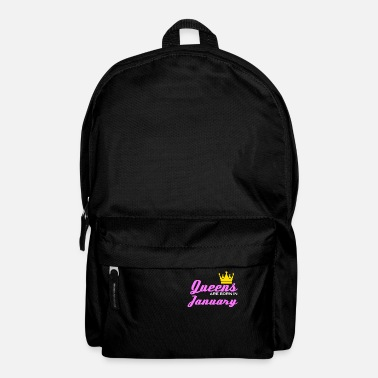 Born In January Queen Crown Woman Girl Saying Gift - Backpack