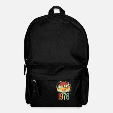 1978 Beautiful Vintage May 1978 Birthday Design - Backpack