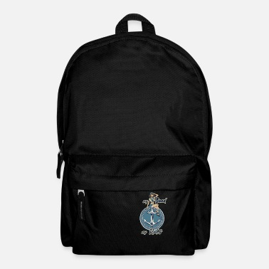 Navy my boad my rules anchor and wife - Backpack