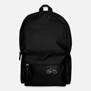 Life With No brakes fun hipster geek cyclist - Backpack