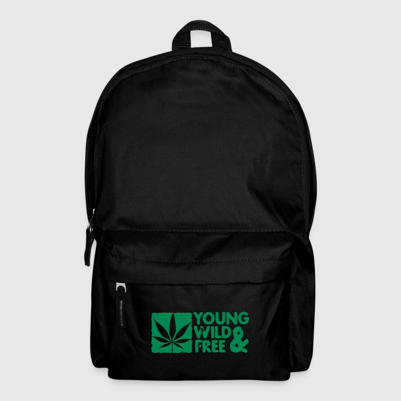 young wild and free weed leaf boxed - Ryggsäck