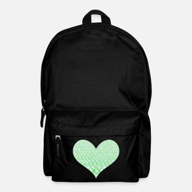 Elegance Green frequencies heart - Backpack