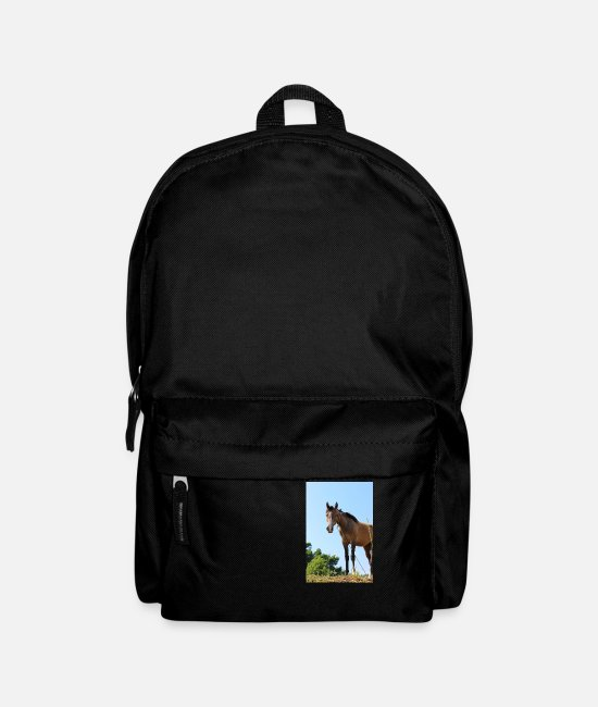 Riding Bags & Backpacks - Horse horses riding equestrian poster gift - Backpack black
