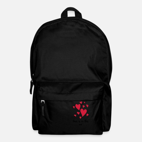 Love Bags & Backpacks - LOVE IS IN THE AIR RISING HEARTS - Backpack black