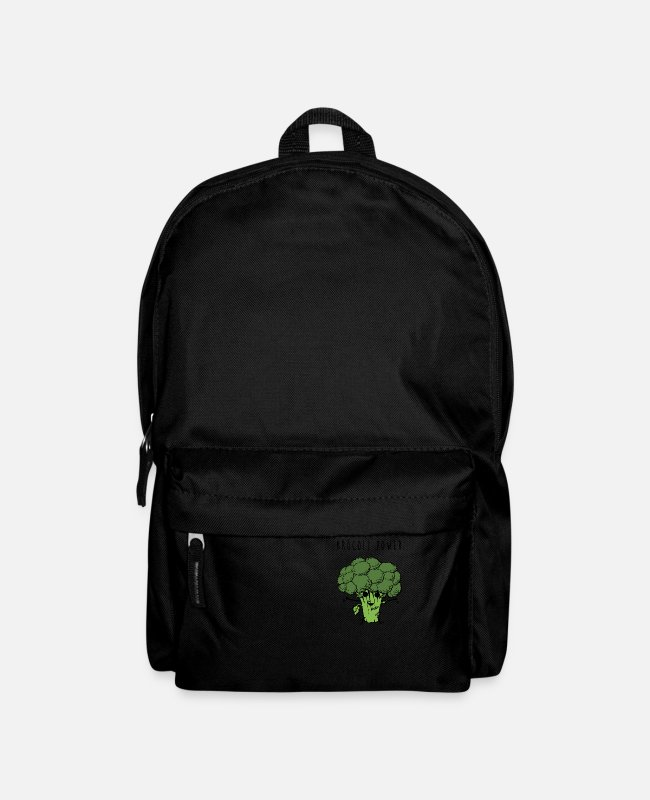 Broccoli Bags & Backpacks - Brocoli Power - Backpack black