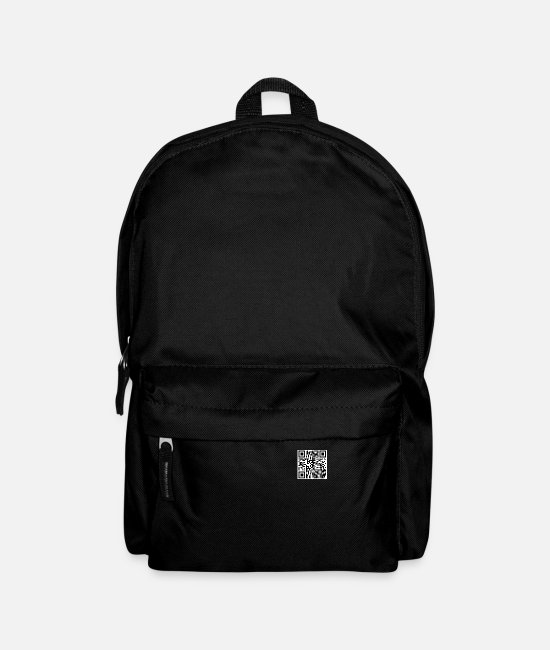 Rick Rolled Bags & Backpacks - Rick Rolling QR Code - Backpack black