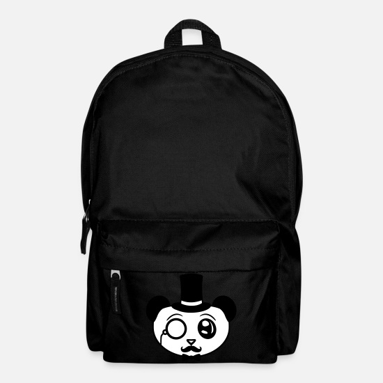 Bounty Hunter Bags & Backpacks - head sir gentleman mustache mustache hat z - Backpack black