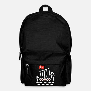 Danish Denmark flag dragon boat viking ship - Backpack