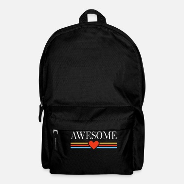 Awesome Awesome awesome heart - Backpack