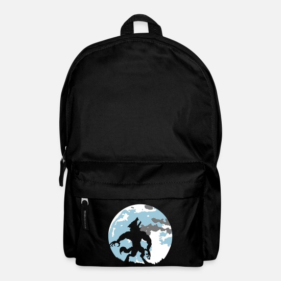 Supernatural Bags & Backpacks - The werewolf in the moonlight - Backpack black