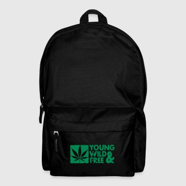 young wild and free weed leaf boxed - Mochila