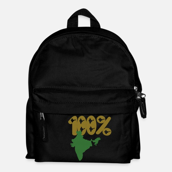 India Geography Bags & Backpacks - india map - Kids' Backpack black