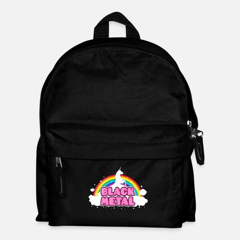 Satanic Bags & Backpacks - BLACK METAL - Funny / Unicorn - Rainbow - parodie - Kids' Backpack black