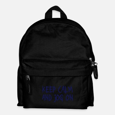Keep Calm keep calm and jog on - Sac à dos Enfant