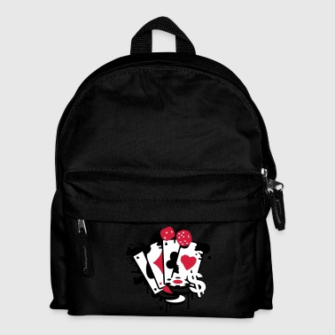 Card game hearts, spades, diamonds, clubs with dice and tokens - Kids' Backpack