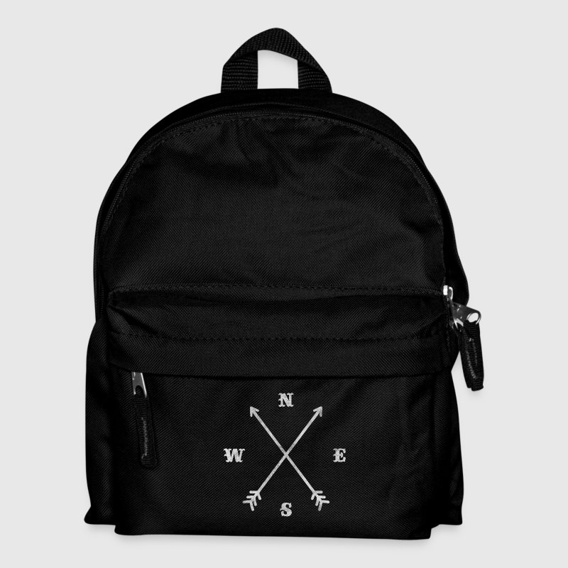 Hipster compass / crossed arrows / retro look - Kids' Backpack