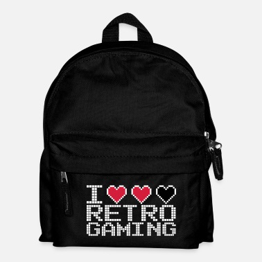 Pc I Heart Retro Gaming Quote - Mochila infantil