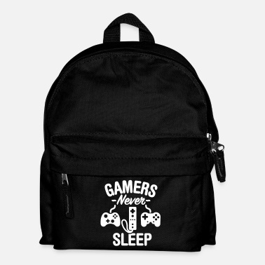 Jouer Gamers never sleep - Sac à dos Enfant