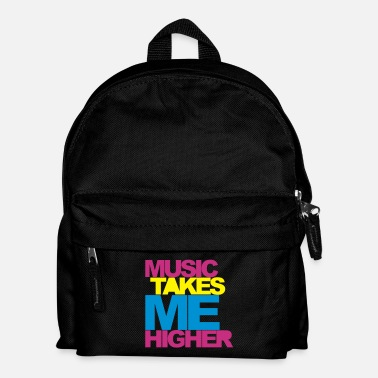 Deejay Music Takes Me Higher 2 Rave Quote - Zaino per bambini