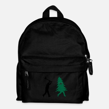 Adviento Funny Christmas Tree Hunted by lumberjack Humor - Mochila infantil