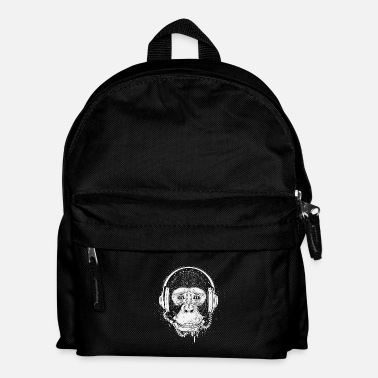 Chimpanzee Chimpanzee with headphones - Kids' Backpack