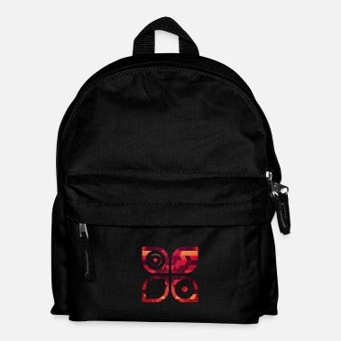 Red Abstract minimal geometry Hipster Art (Red Gold) - Mochila infantil