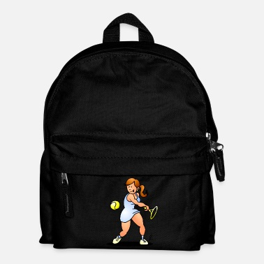 Open Tennis fille de frapper un revers - Sac à dos Enfant
