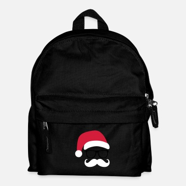 Santa Funny Santa Claus with nerd glasses and mustache - Rugzak voor kinderen