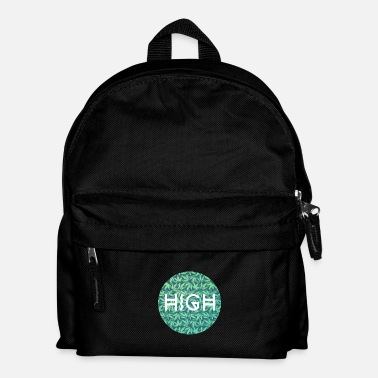 Fumer Du Cannabis HIGH / cannabis Hipster Typo - Pattern Design  - Sac à dos Enfant