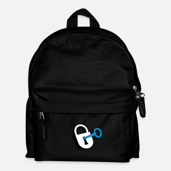 Chastity Bags & Backpacks - A padlock with key - Kids' Backpack black
